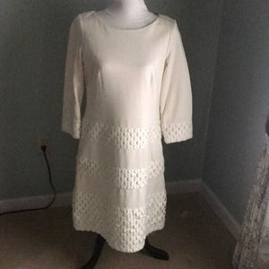 Taylor Winter White Dress